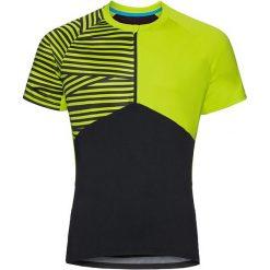 Odlo Koszulka rowerowa Shirt s/s 1/2 zip Morzine czarno-zielona r. M (411492). Koszulki sportowe męskie Odlo, m. Za 176,53 zł.