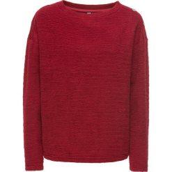 Swetry oversize damskie: Sweter oversize bonprix ciemnoczerwony