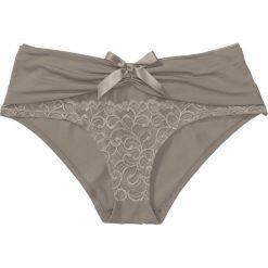 """Figi """"panty"""" bonprix brunatny. Brązowe figi bonprix, w koronkowe wzory, z koronki. Za 34,99 zł."""