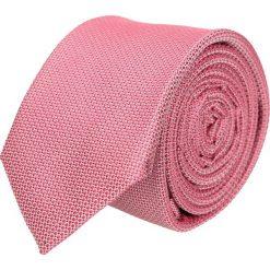 Krawaty męskie: krawat platinum róż classic 208