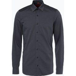 Finshley & Harding - Koszula męska łatwa w prasowaniu, szary. Czarne koszule męskie na spinki marki Finshley & Harding, w kratkę. Za 89,95 zł.