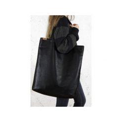 Mega Shopper bag czarna torba oversize Vegan. Czarne shopper bag damskie Hairoo, w paski. Za 185,00 zł.