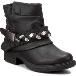 Botki JENNY FAIRY - WS16037-5C Czarny. Czarne botki damskie skórzane marki Jenny Fairy. W wyprzedaży za 90,99 zł.