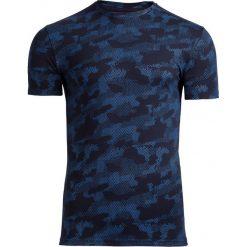 T-shirt męski TSM602 - niebieski - Outhorn. Niebieskie t-shirty męskie Outhorn, na lato, m, moro, z bawełny. W wyprzedaży za 39,99 zł.