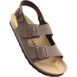"""Sandały męskie skórzane: Sandały """"Vetiver"""" w kolorze ciemnobrązowym"""