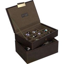 Zegarki męskie: Pudełko na spinki i zegarki Stackers brązowo-khaki