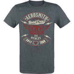 T-shirty męskie: Aerosmith Road Crew Tour 2017 T-Shirt szary