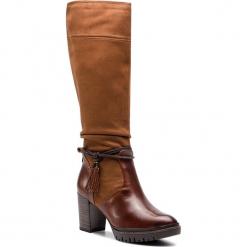 Kozaki TAMARIS - 1-25551-21 Cognac 305. Szare buty zimowe damskie marki Tamaris, z materiału, na sznurówki. Za 399,90 zł.