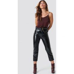 XLE the Label Spodnie Lauren - Black. Czarne spodnie z wysokim stanem XLE the Label. Za 200,95 zł.