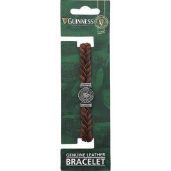 Bransoletki damskie: Guinness Harfe Bransoletka skórzana brązowy