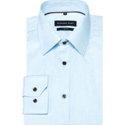 Koszula SIMONE KDNS000360. Czarne koszule męskie na spinki marki Giacomo Conti, m, z bawełny, z klasycznym kołnierzykiem. Za 229,00 zł.