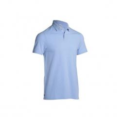 Koszulka polo do golfa 100 męska. Czarne koszulki polo marki B'TWIN, na jesień, m, z elastanu. Za 19,99 zł.