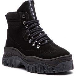 Trapery BRONX - 47174-C BX 1553 Black. Czarne buty zimowe damskie marki Bronx, z materiału. W wyprzedaży za 519,00 zł.