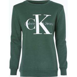Bluzy damskie: Calvin Klein Jeans – Damska bluza nierozpinana, zielony