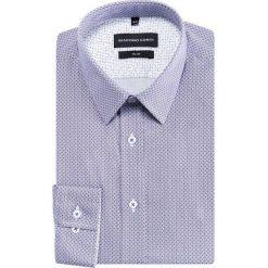 Koszula SIMONE KDWS000220. Szare koszule męskie na spinki marki House, l, z bawełny. Za 199,00 zł.