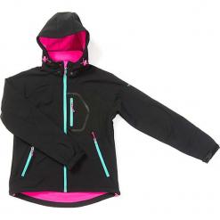 Kurtka softshellowa w kolorze czarno-różowym. Czarne kurtki dziewczęce marki bonprix. W wyprzedaży za 127,95 zł.