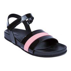 Sandały damskie: Sandały w kolorze czarno-jasnoróżowym