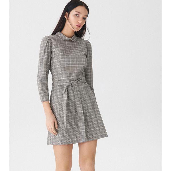 e490ed8811 Sukienka w kratkę - Wielobarwn - Szare sukienki damskie House