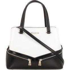 Torebki i plecaki damskie: Czarno biała torebka damska