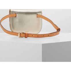 Torebki klasyczne damskie: CLOSED BUM BAG Saszetka nerka silver/gold