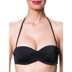 Biustonosz bikini w kolorze czarnym. Czarne biustonosze z fiszbinami Skiny, z materiału. W wyprzedaży za 60,95 zł.