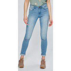 Noisy May - Jeansy Lucy. Niebieskie jeansy damskie rurki marki Noisy May, z bawełny. W wyprzedaży za 79,90 zł.