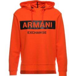 Armani Exchange Bluza z kapturem flame. Czarne bluzy męskie rozpinane marki Armani Exchange, l, z materiału, z kapturem. Za 569,00 zł.