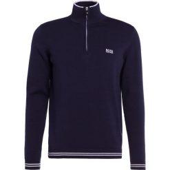 BOSS ATHLEISURE ZIME Sweter navy. Niebieskie kardigany męskie marki BOSS Athleisure, m. W wyprzedaży za 376,35 zł.