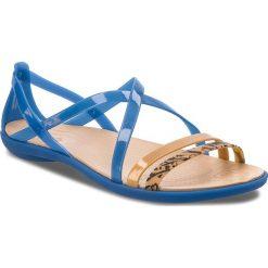 Rzymianki damskie: Sandały CROCS – Isabella Grph Strappy 205084 Blue Jean/Gold