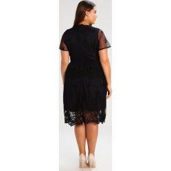 Sukienki hiszpanki: Lost Ink Plus SKATER EMBROIDERY TIE Sukienka koktajlowa black