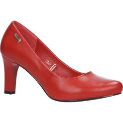 Czerwone czółenka na słupku Sergio Leone 1459. Czarne buty ślubne damskie marki Sergio Leone. Za 95,99 zł.