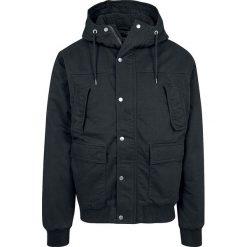 Urban Classics Hooded Cotton Jacket Kurtka zimowa czarny. Niebieskie kurtki męskie zimowe marki Urban Classics, l, z okrągłym kołnierzem. Za 365,90 zł.