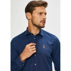 U.S. Polo - Koszula. Szare koszule męskie na spinki marki U.S. Polo, l, z bawełny, polo, z długim rękawem. W wyprzedaży za 449,90 zł.