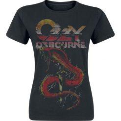 Ozzy Osbourne Vintage Snake Koszulka damska czarny. Czarne bluzki damskie Ozzy Osbourne, xl, z nadrukiem, vintage, z okrągłym kołnierzem. Za 74,90 zł.