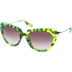 """Okulary przeciwsłoneczne damskie aviatory: Okulary przeciwsłoneczne """"0006/S 3JW"""" w kolorze limonkowym"""