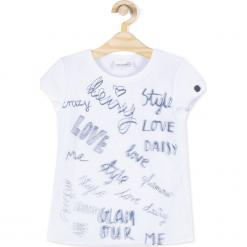 Koszulka. Białe bluzki dziewczęce bawełniane marki FOUGANZA. Za 29,90 zł.