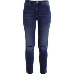 BOSS Orange SURPRISE Jeans Skinny Fit navy. Niebieskie jeansy damskie BOSS Orange, z bawełny. W wyprzedaży za 519,20 zł.