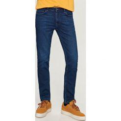 Rurki męskie: Jeansy slim fit knit denim - Granatowy