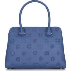 Torebka damska 87-4E-423-7. Niebieskie kuferki damskie marki Wittchen, w paski, pikowane. Za 659,00 zł.