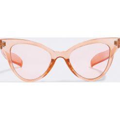Okulary przeciwsłoneczne damskie aviatory: NA-KD Trend Kolorowe okulary przeciwsłoneczne Pointy - Orange
