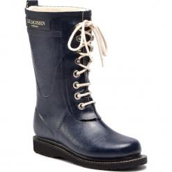 Kalosze ILSE JACOBSEN - RUB15 Dark Indigo 660. Brązowe buty zimowe damskie marki Alma en Pena, z materiału, na obcasie. Za 619,00 zł.
