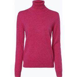 Franco Callegari - Sweter damski z czystego kaszmiru, różowy. Zielone swetry klasyczne damskie marki Franco Callegari, z napisami. Za 579,95 zł.