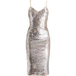 Maya Deluxe MIDI CAMI DRESS WITH FULL SEQUIN EMBELLISHMENT Sukienka koktajlowa silver. Szare sukienki koktajlowe Maya Deluxe, z materiału, midi. W wyprzedaży za 519,20 zł.