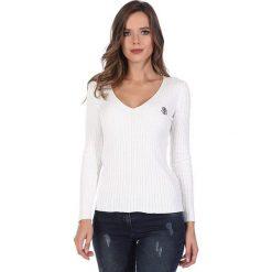 """Swetry klasyczne damskie: Sweter """"Deuce"""" w kolorze kremowym"""