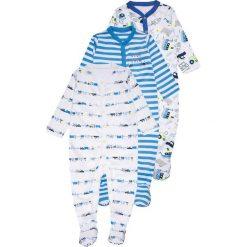 Mothercare BOYS CREW SLEEPSUIT BABY 3 PACK Piżama blue. Niebieskie bielizna dziewczęca mothercare, z bawełny. Za 129,00 zł.