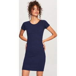 Dopasowana sukienka - Granatowy. Niebieskie sukienki marki Reserved, l, dopasowane. Za 59,99 zł.