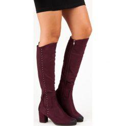 WYGODNE KOZAKI NA OBCASIE VINCEZA. Czerwone buty zimowe damskie Vinceza, na obcasie. Za 179,00 zł.