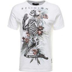 T-shirty męskie z nadrukiem: Religion TROPIC SKELETON TEE Tshirt z nadrukiem white