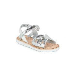 Sandały Dziecko  Mod'8  SHALYS. Czerwone sandały dziewczęce marki Born2be, z materiału, z otwartym noskiem, na zamek. Za 175,20 zł.