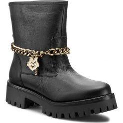 Botki LOVE MOSCHINO - JA24024G10IH000C Nero/Oro. Szare buty zimowe damskie marki Love Moschino, z materiału. W wyprzedaży za 719,00 zł.